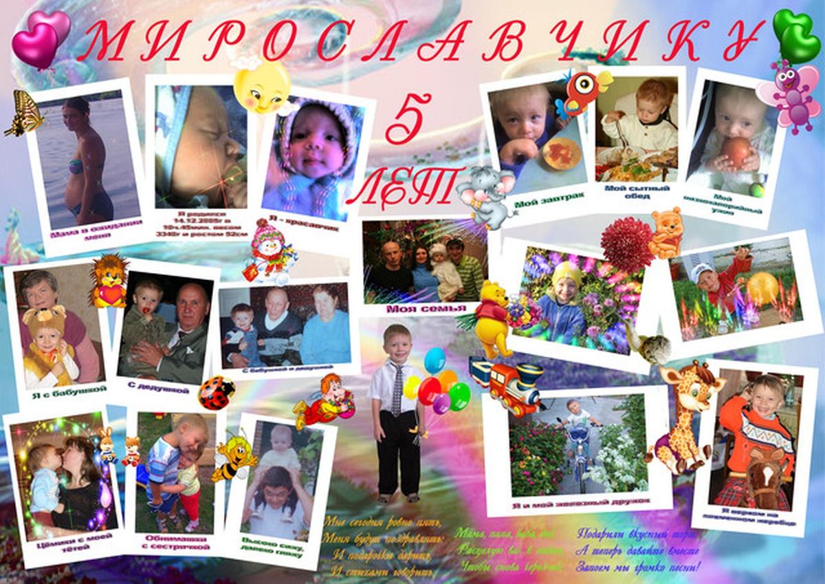 Плакат на день рождение ребенка